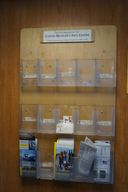 Cortes Island Museum Card Rack on Ferry