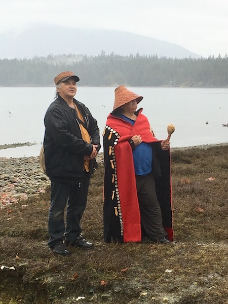 Klahoose elders, Norman Harry &  Ken Hanuse