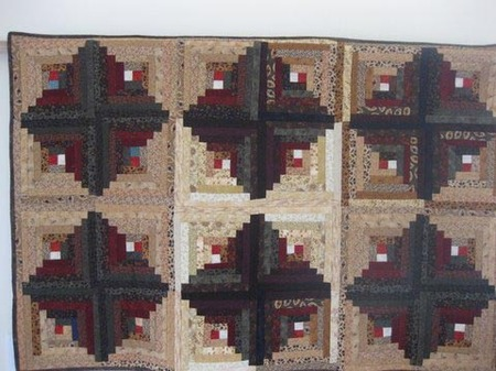 Log Cabin Quilt donated by Ruth Zwickle