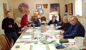 Art Class and Muse Gallery with Dianne Bersea.  Watercolour artists have more fun!