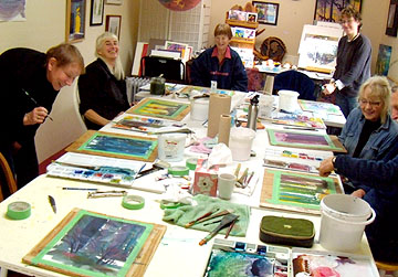 Watercolour Class at Muse Gallery with Dianne Bersea.  Watercolour artists have more fun..., really!