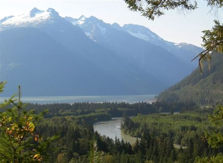 The Homathco River coming into Bute Inlet