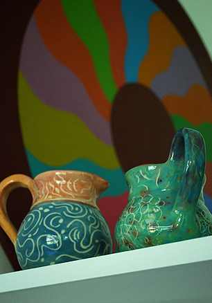 Colourful glazes.