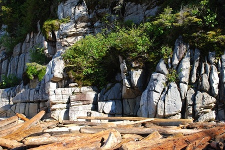 Rock Bluffs on Calvert Island