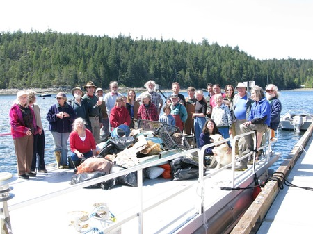 The 2010 clean up crew and the debris collection