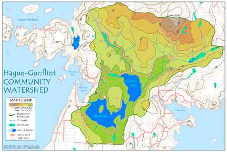 Hague-Gunflint watershed, map update by David Shipway