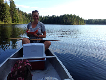 Miranda Cross, a biologist, is the volunteer who leads the FOCI lake sampling team
