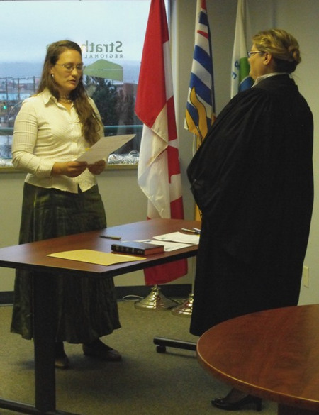 Swearing in Ceremony - Noba Anderson