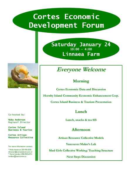 Economic Development Forum Poster