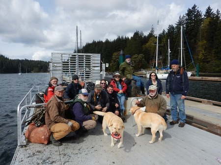 Some of this years participants in the Gorge Harbour Cleanup