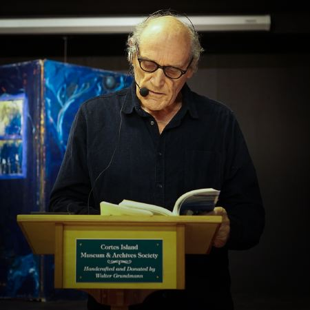 Norm Gibbons reading from her book