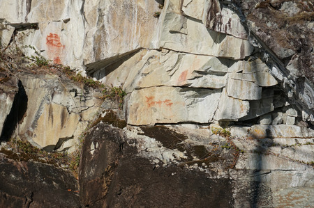 One of the pictographs that we have seen.