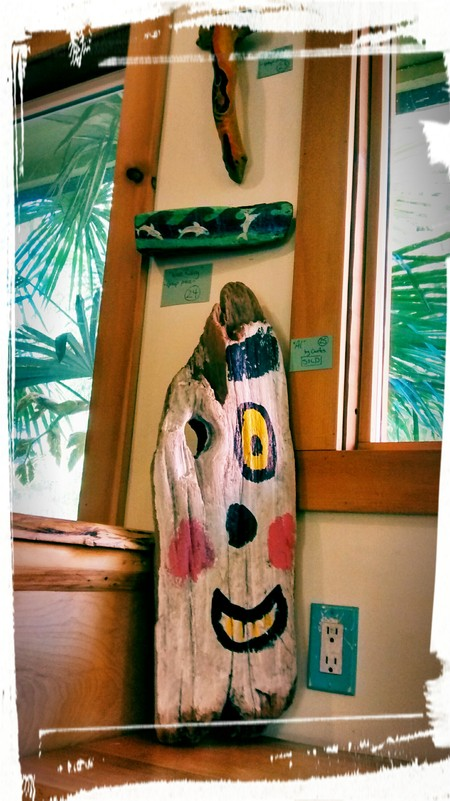 AIL Driftwood Art in the Co-op Cafe!