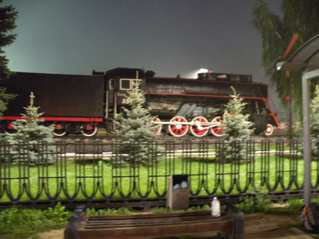 An original Trans-Siberian steam locomotive.