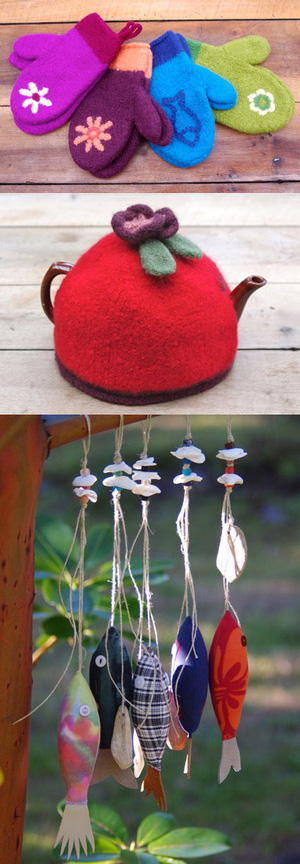 Tea Cosy and Hanging Fish