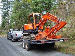 Our small trenching, excavating, septic, Kubota