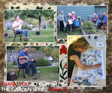 Art in the Garden series was really successful, thanks to Brittany and Laura