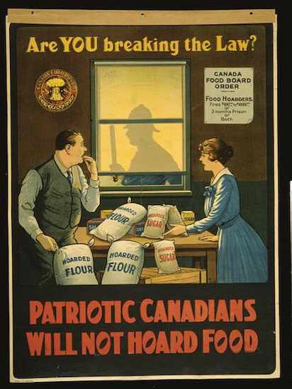 Patriotic Canadians Will Not Hoard Food