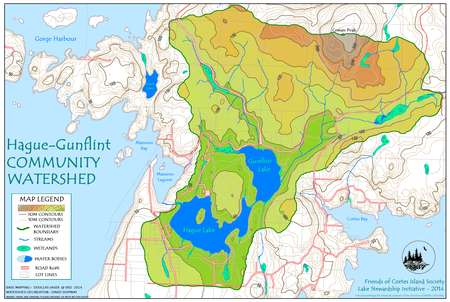 Hague, Gunflint Watershed, map by David Shipway