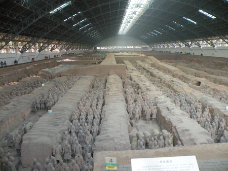 Part of the Terracotta Army on display in X'ian, China