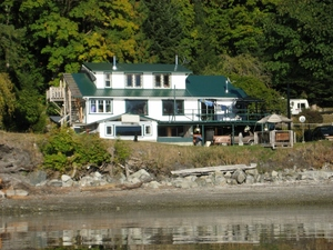House view from the water