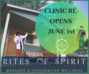 Rites of Spirit: Massage & Integrative Wellness Studio (located next to the Cortes Island Natural Food Co-op)