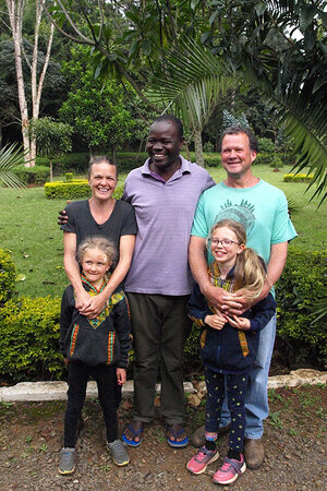 Our family, with the director of Twende Development